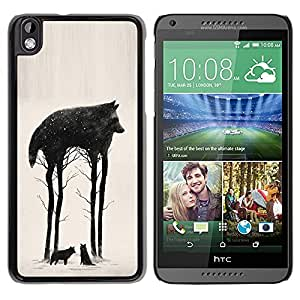 Paccase / SLIM PC / Aliminium Casa Carcasa Funda Case Cover - Trees Abstract Meaning Nature - HTC DESIRE 816