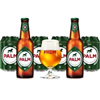 6 Pack de cervezas Belgas Palm de 330 ml + Copa Palm original.
