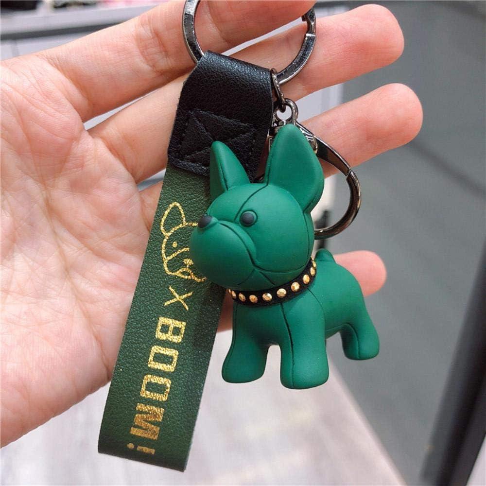 WYB Mode///Bulldog Porte-cl/és PU en Cuir Chien Porte-cl/és pour Femmes Sac Charme Bijou Hommes Voiture Porte-cl/és Porte-cl/és Caf/é