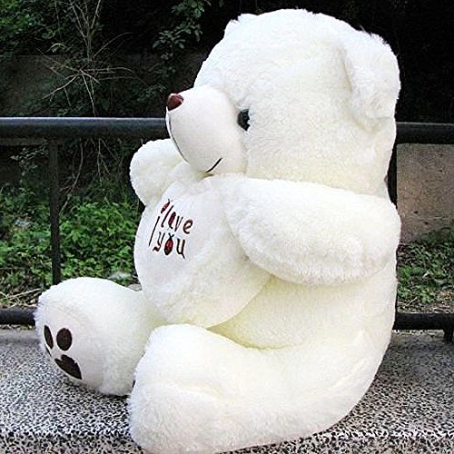 "VERCART 3 Foot 36"" White I Love You Giant Cuddly Stuffed..."