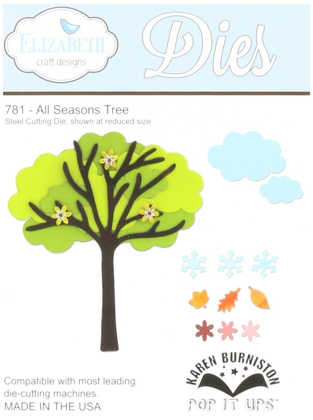 Elizabeth Craft Pop It Up Metal Dies By Karen Burniston-All Season Tree (並行輸入品) B00IXWKZ2A