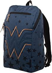 e26a35512c17 Wonder Woman Backpack - Navy Blue Backpack w Wonder Woman Logo