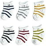 FYGOOD Unisex - Baby Socken Erstlingssöckchen, Streifen 6er Set XS(0-6 Monate)