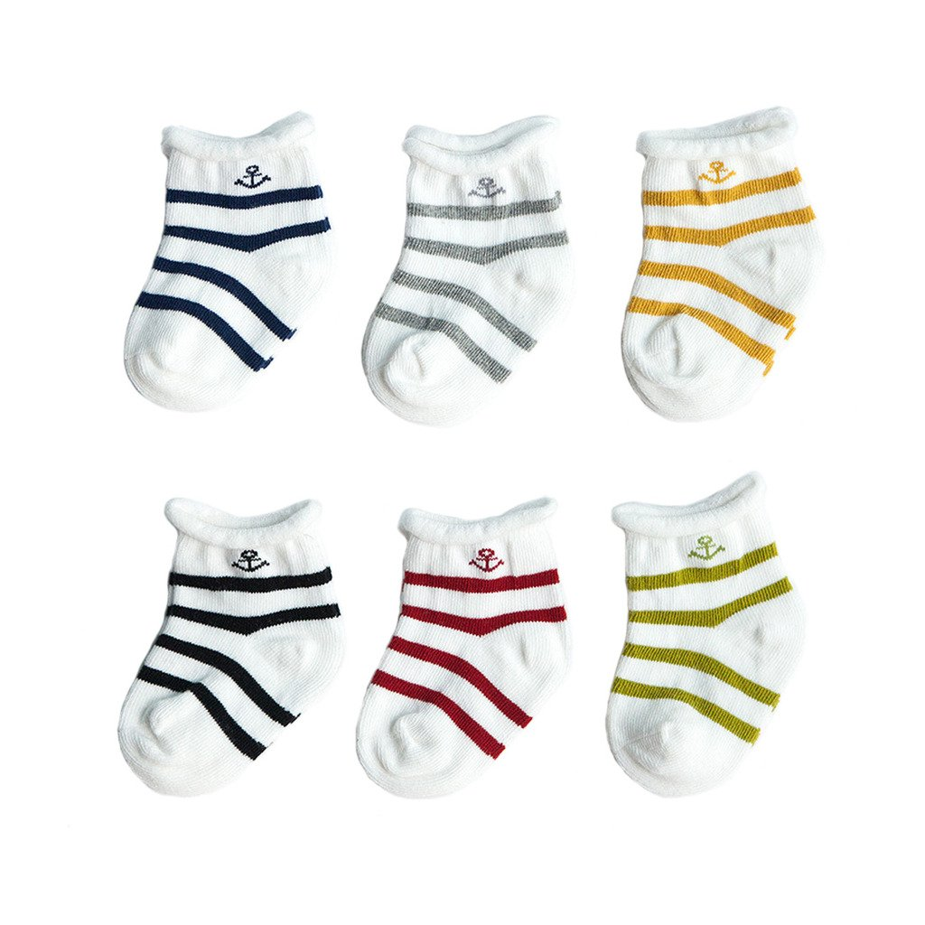FYGOOD Unisex Baby 6 Pack Socks, Toddler, Newborn Socks colors for boy XS(0-6 months)
