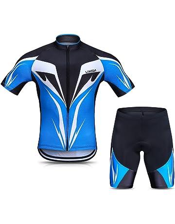 CHHBS Body Tuta Ciclismo Completo Bici Uomo Estivo con Maglia+Pantaloncini Imbottiti,Body da Ciclismo da Uomo Estate