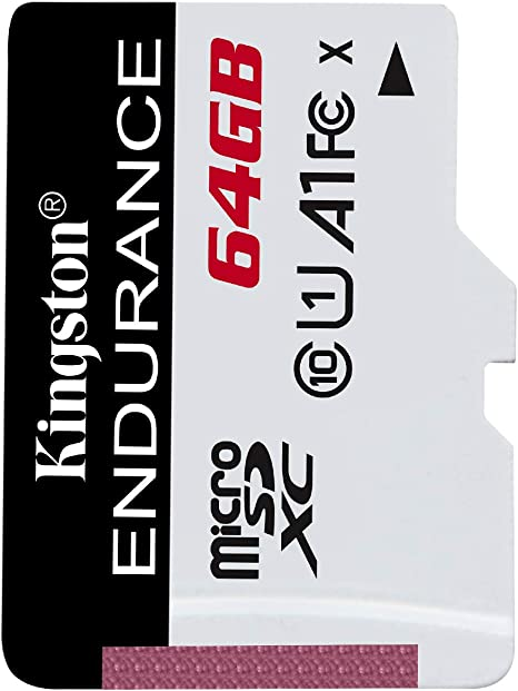 Kingston High Endurance 64GB MicroSD SDXC Flash Memory Card High Performance, 1080P, Full HD, Up to 95MB/S Read, (SDCE/64GB)