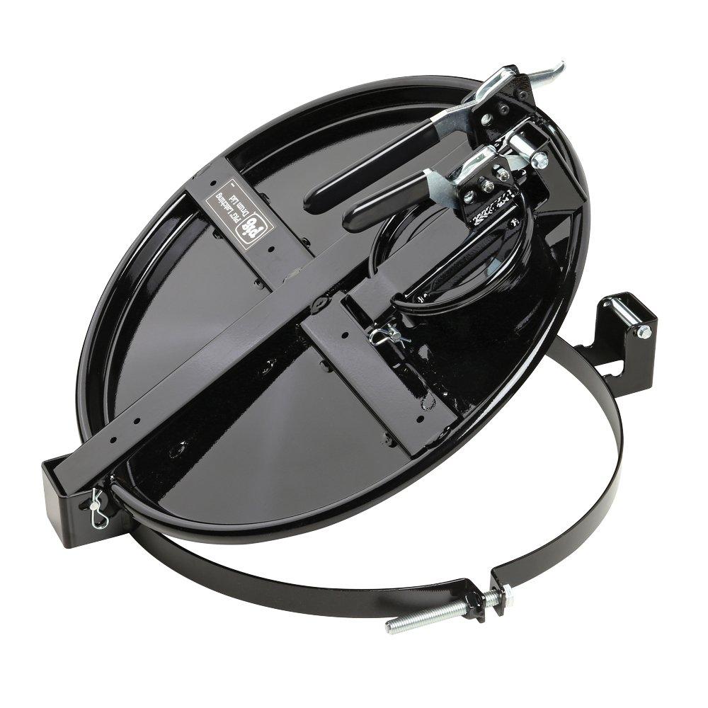 New Pig Vapor-Control Latching Drum Lid, For 30 Gallon Steel Drums, Bolt-Ring, Versatile Locking Lid, 22'' L x 19'' W x 7'' H, Black, DRM1034-BK