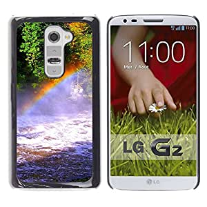 Exotic-Star ( Nature Rainbow Falls ) Fundas Cover Cubre Hard Case Cover para LG G2 / D800 / D802 / D802TA / D803 / VS980 / LS980