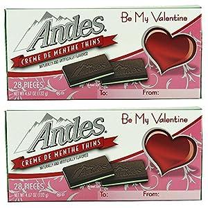 Andes Creme De Menthe Thins Valentine Edition, 4.67 Ounces, 28 Pieces (Pack of 2)