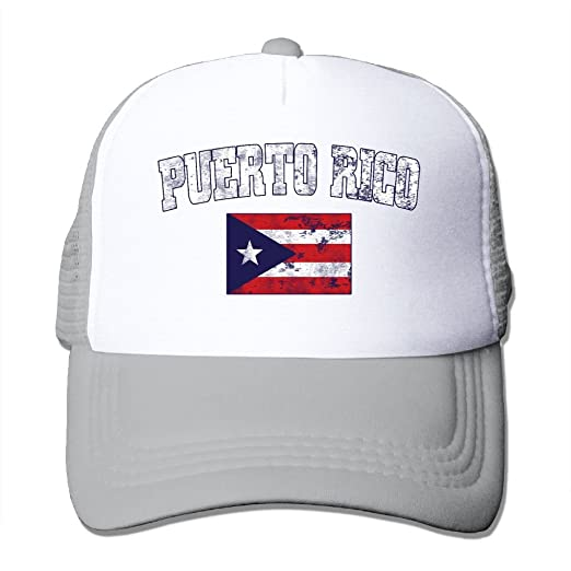 cfcc21a1b5f Image Unavailable. Image not available for. Color  Unisex Puerto Rico Faded  Distressed Flag Two Tone Trucker Hat ...