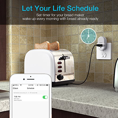 Lefun Smart Plug WiFi Outlets Night Light with Timer Remote Individual Control, Work with Alexa/Google Home/Ifttt by LeFun (Image #7)