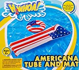 Inflatable Pool Float Lounges Popsicle Pizza Donut Ice Cream Watermelon Emoji (Choose Your Treat) (American Tube & Lounge Set)
