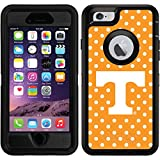 OtterBox Apple iPhone 6/6s Black Defender Case with University of Tennessee Mini Polka Dots, Full-Color Design