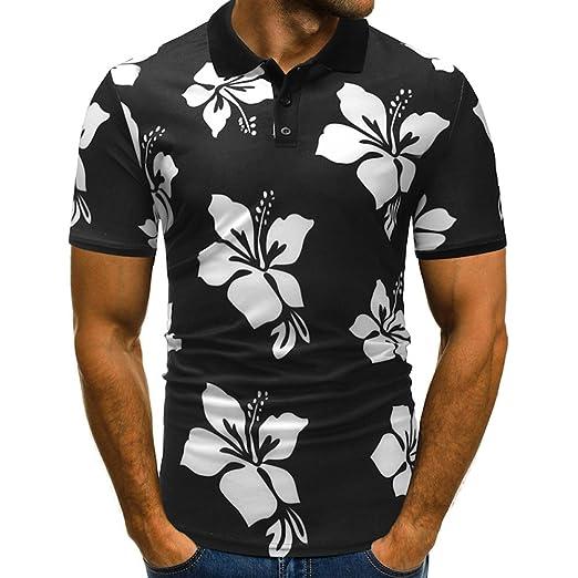 Kinlene Camiseta Estampada de Manga Corta para Hombre con diseño ...