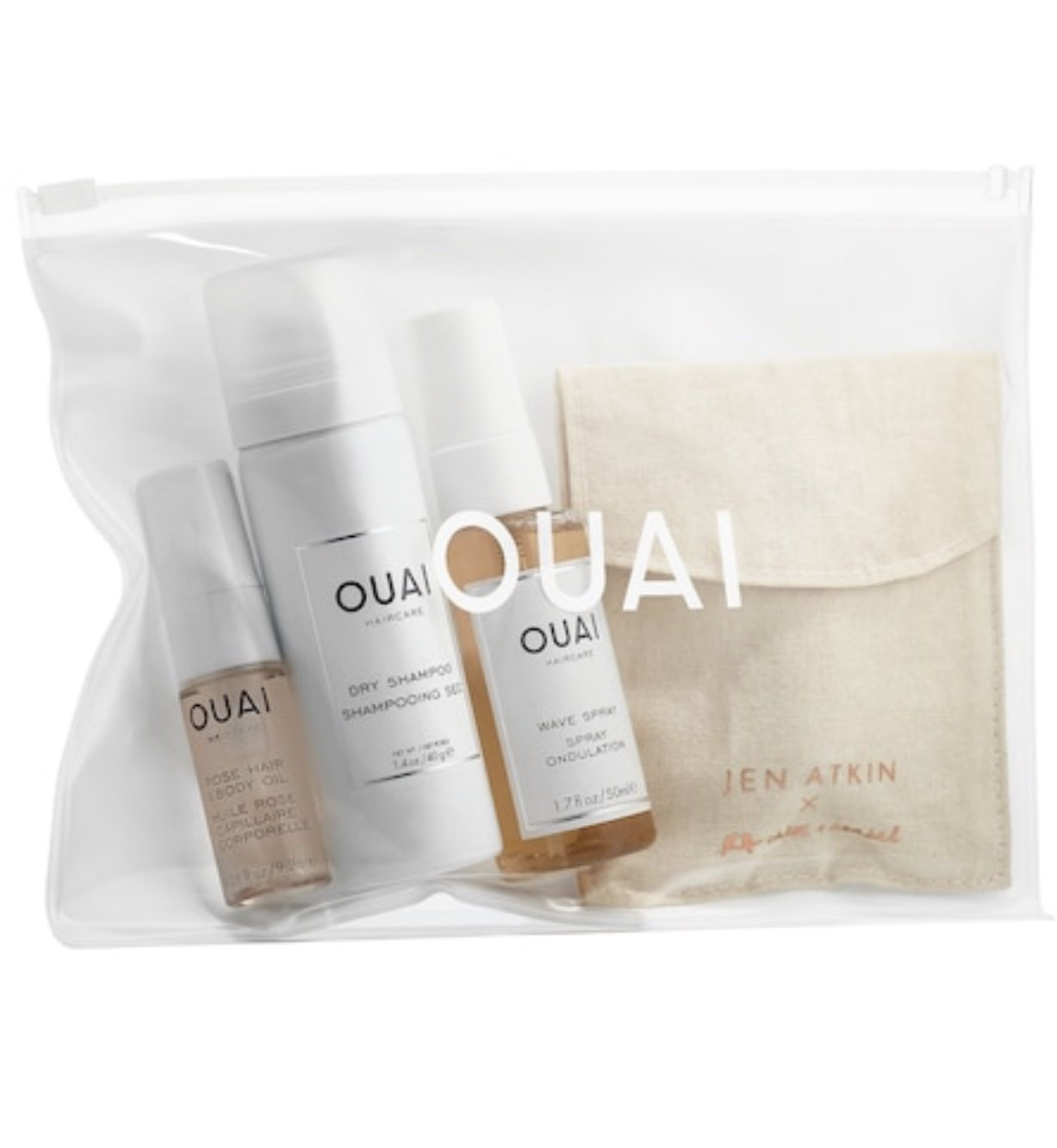 Ouai Desert OUAIsis Festival Kit: Rose Hair & Body Oil, Dry Shampoo Foam, Wave Spray, Jen Atkin x Chloe + Isabel Ponytail Piece (Limited Edition) by Ouai (Image #3)