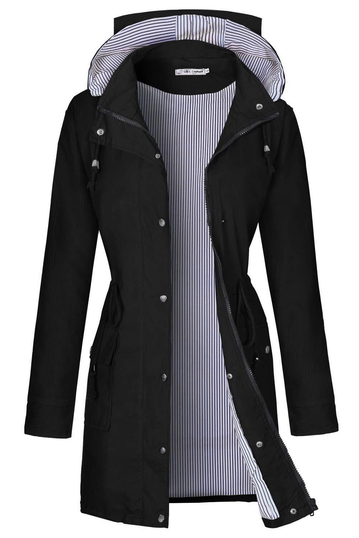 BBX Lephsnt Rain Coats for Women Lightweight Rain Jacket Active Outdoor Trench Coat