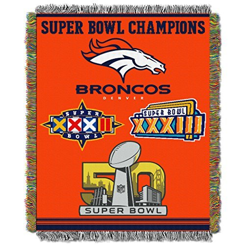 Nfl Commemorative Series Throw - Northwest Broncos 48 x 60 NFL Style 051 Commemorative Series Throw Blanket