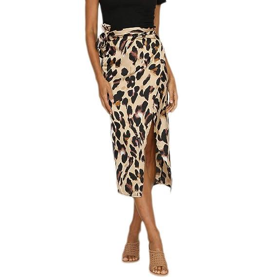 Falda Sexy para Mujer Moda Caliente Mujeres Leopardo impresión ...