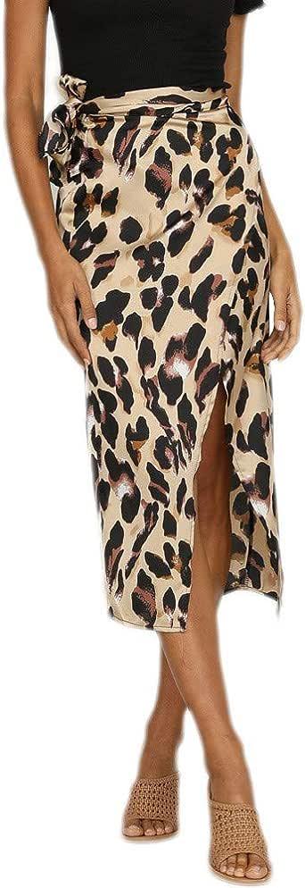 Falda Leopardo Mujer Sexy, Gusspower Moda Mujer Estampado Volantes ...