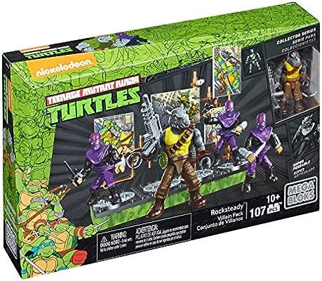 Mega Bloks - Rocksteady y su Banda de Villanos, Tortugas Ninja, Juego de construcción (Mattel DMW28)