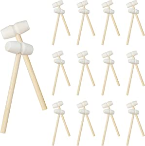 Winerming 30 Pieces of Mini Wooden Hammer Hammer Toy Lobster Seafood Hammer Natural Hardwood Crab Hammer Biscuit Mallet Tamped Natural Hardwood Mashed Chocolate Educational Toy for Boys and Girls