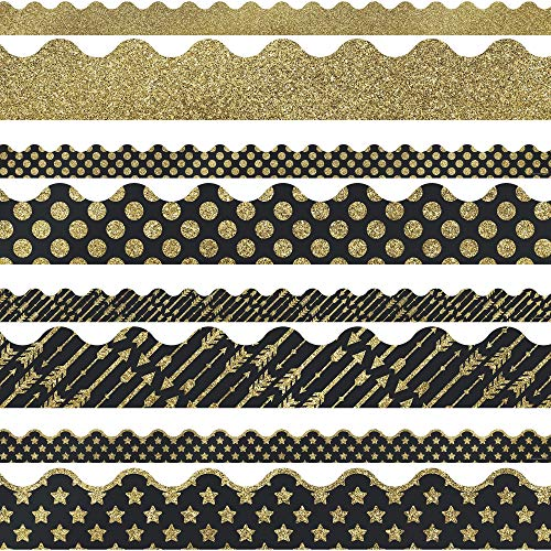 Black And Gold Border (Carson Dellosa Set Teaching Material)