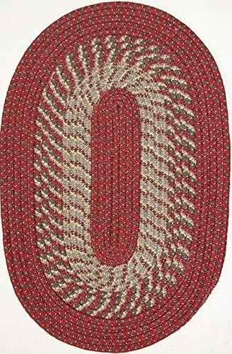 Constitution Rugs Plymouth 7 Round Braided Rug in Barn Red