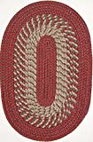 Cheap Plymouth 7′ ROUND Braided Rug in Barn Red
