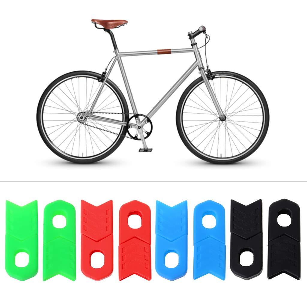 CADANIA 1 Unidades Juego de bielas Protector de bielas Protector de protecci/ón Profesional Funda Protectora de Silicona MTB Bicicleta de Carretera Ciclismo Partes Accesorios Negro