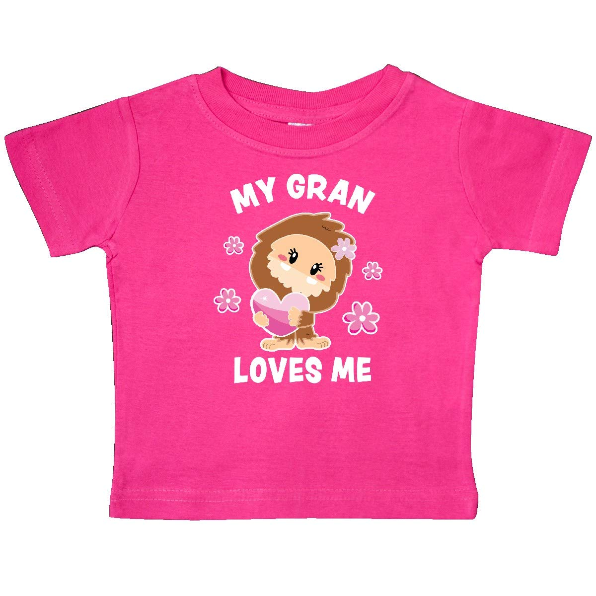 inktastic My Gran Loves Me with Bigfoot Baby T-Shirt