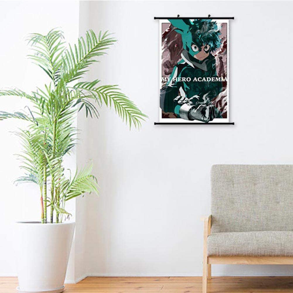 Impression dart /étanche 30 * 45cm H01 SGOT Anime My Hero Academia Poster de Bakugou Katsuki Todoroki Shoto Scrollllen Painting