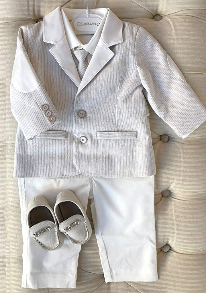 Fenghuavip Baby Boys Baptism Gifts Christening Outfits Suit 3Pcs Shirt//Pants//Jackets
