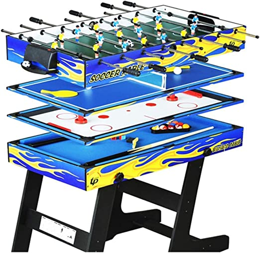 4-en-1 Mesa de Billar Plegable multifunción Mesa de Ping-Pong Mesa ...