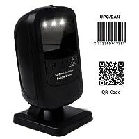 [Mise à niveau 2.0] 1D / 2D Scanner Code à Barres Mains Libres Lecteur de Code-Barres Capteur MUNBYN Automatique pour Supermarché, Magasin de Détail, Magasin de Vêtements