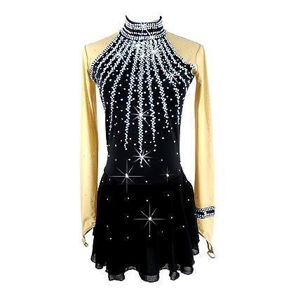 GW Vestido de Patinaje Sobre Hielo para Mujeres, niñas, Traje de competición de Patinaje