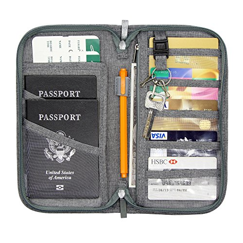Jollyfit Rfid Bloking Travel Wallet Credit Card Cover Boarding Pass