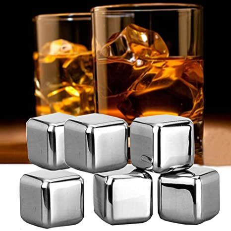 YunNasi - Juego de cubitos de hielo de acero inoxidable ...
