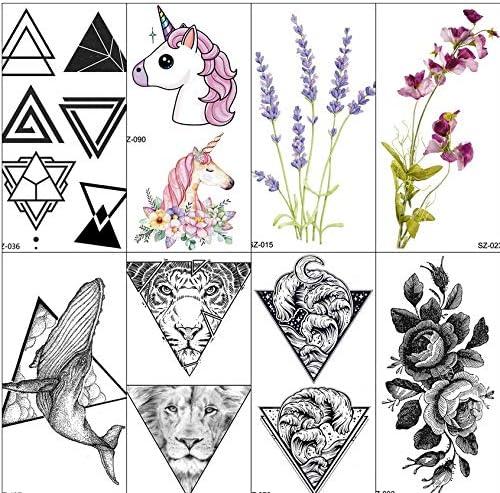yyyDL Etiqueta engomada del tatuaje temporal Popular tatuaje falso ...