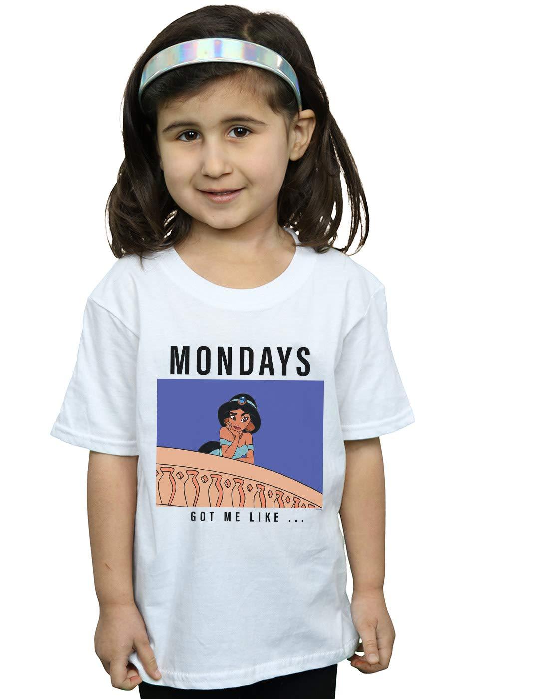 Princess Girls Jasmine Mondays Got Me Like T Shirt 3621