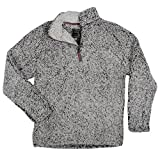 True Grit Men's Frosty Tipped Pile 1/4 Zip Pullover, Charcoal, Medium