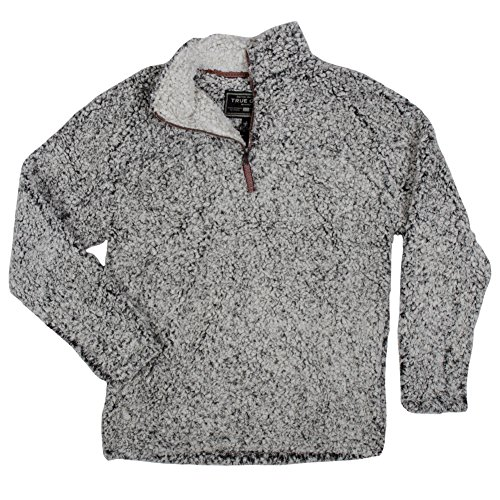 True Grit Men's Frosty Tipped Pile 1/4 Zip Pullover, Charcoal, Medium by True Grit