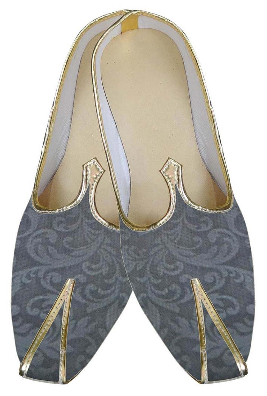 INMONARCH Hombres Diseñador Gris Zapatos de Boda MJ0081 40.5 EU