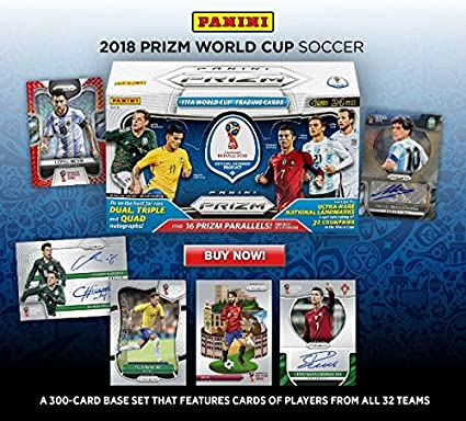 15 Cards//Pack 2018 Panini PRIZM World Cup Prizm Soccer ONE Fat Pack