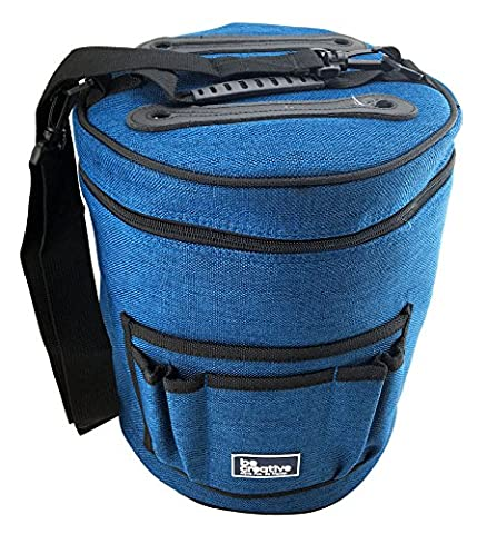 BEST KNITTING BAG FOR YARN STORAGE. Portable, Light and Easy to Carry- enjoy knitting /crocheting (Womens Hard Cap)