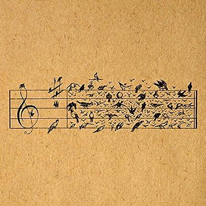 Amazon com: Antique Birds Music Notes Vintage Artwork Musical