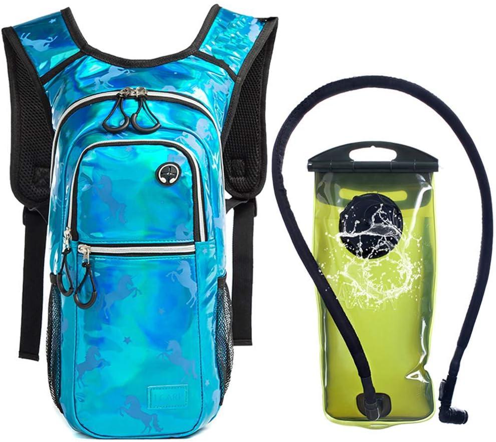 Kylebooker Rave Hydration Pack Backpack with 2 Liter Water Bladder for Running Hiking Biking Raves Festivals