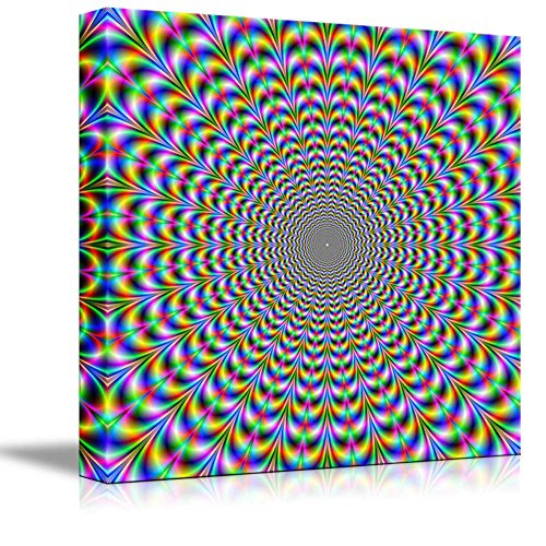 Holographic Optical Illusion Spiral Rainbow Wall Decor ation