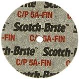 Scotch-Brite(TM) Cut and Polish Unitized Wheel, Aluminum Oxide, 15100 rpm, 3 Diameter x 1/2 Width, 1/4 Arbor, 5A Fine Grit (Pack of 1)