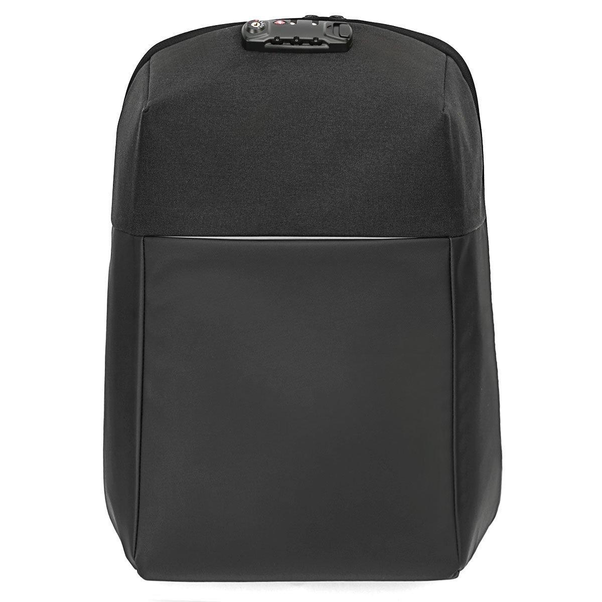 """Naturalife 15.6""""Mochila antirrobo para ordenadores portátiles con cremallera oculta, candado, puerto de carga USB, gran capacidad de carga e impermeable para la universidad, trabajo y viajes 735EU-0001"""