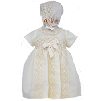 Alves Spanish Designer Cream Baby Girls Christening Occasion
